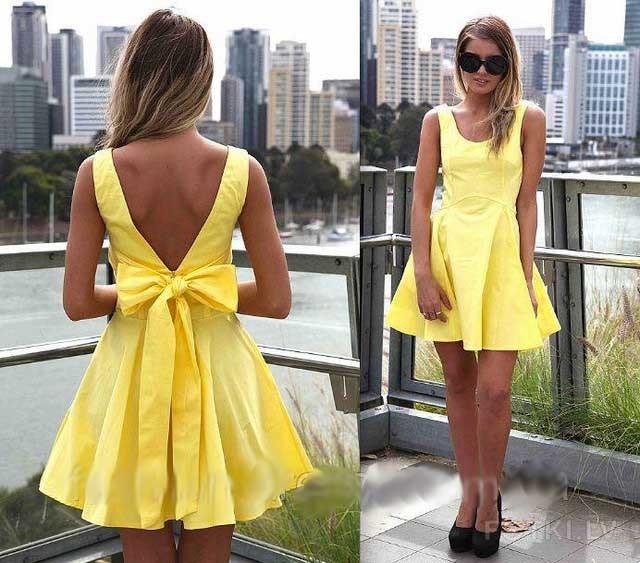 Фото платья с открытой спиной летние